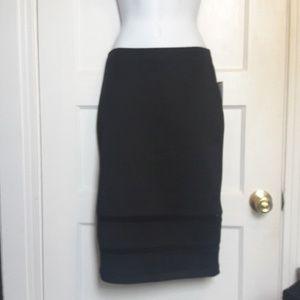 NWT szM black pencil skirt by bisou bisou